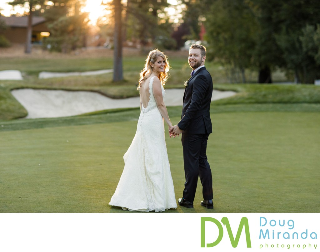 Golf Course Wedding photo Chateau at Incline Village