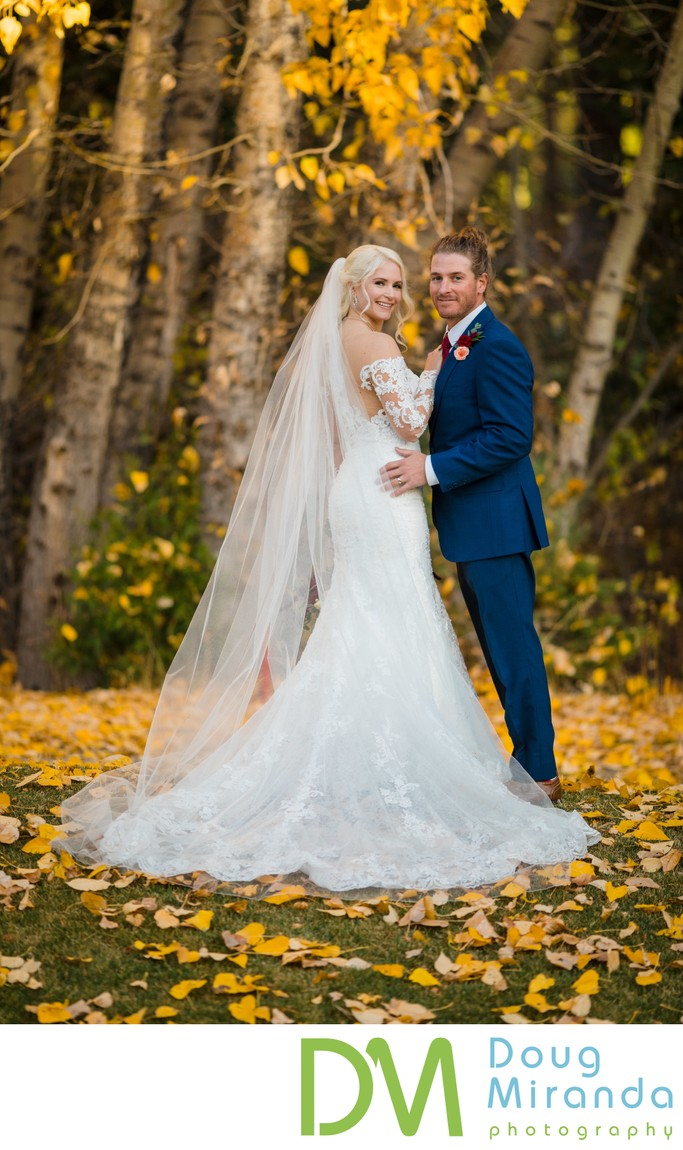 Chateau at Incline Village Fall Wedding Photos