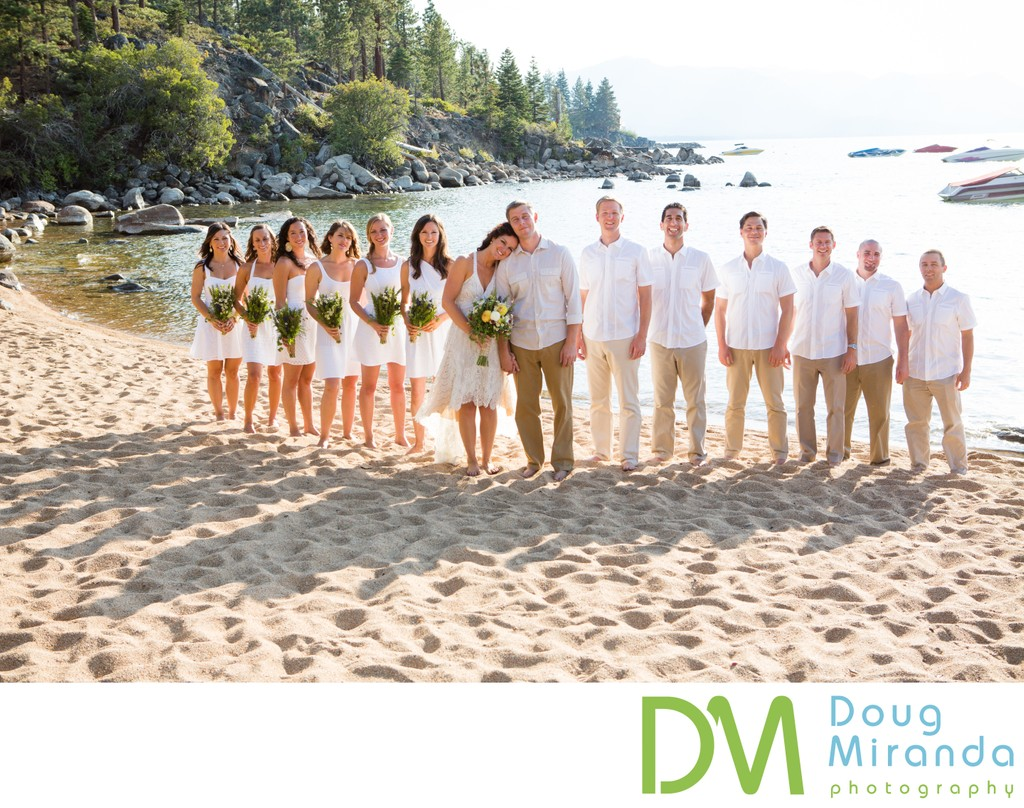 Round Hill Pines Beach Resort Wedding Bridal Party