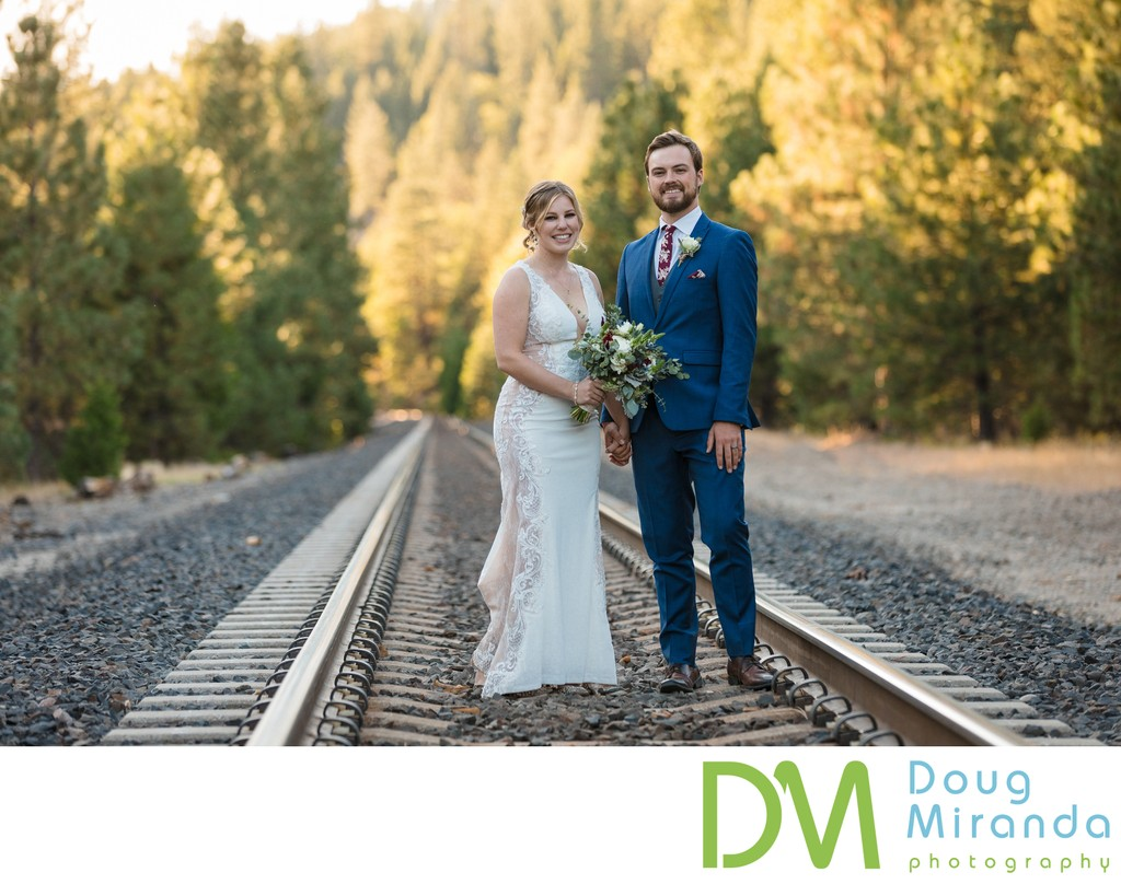 Twenty Mile House Wedding Train Track Pictures