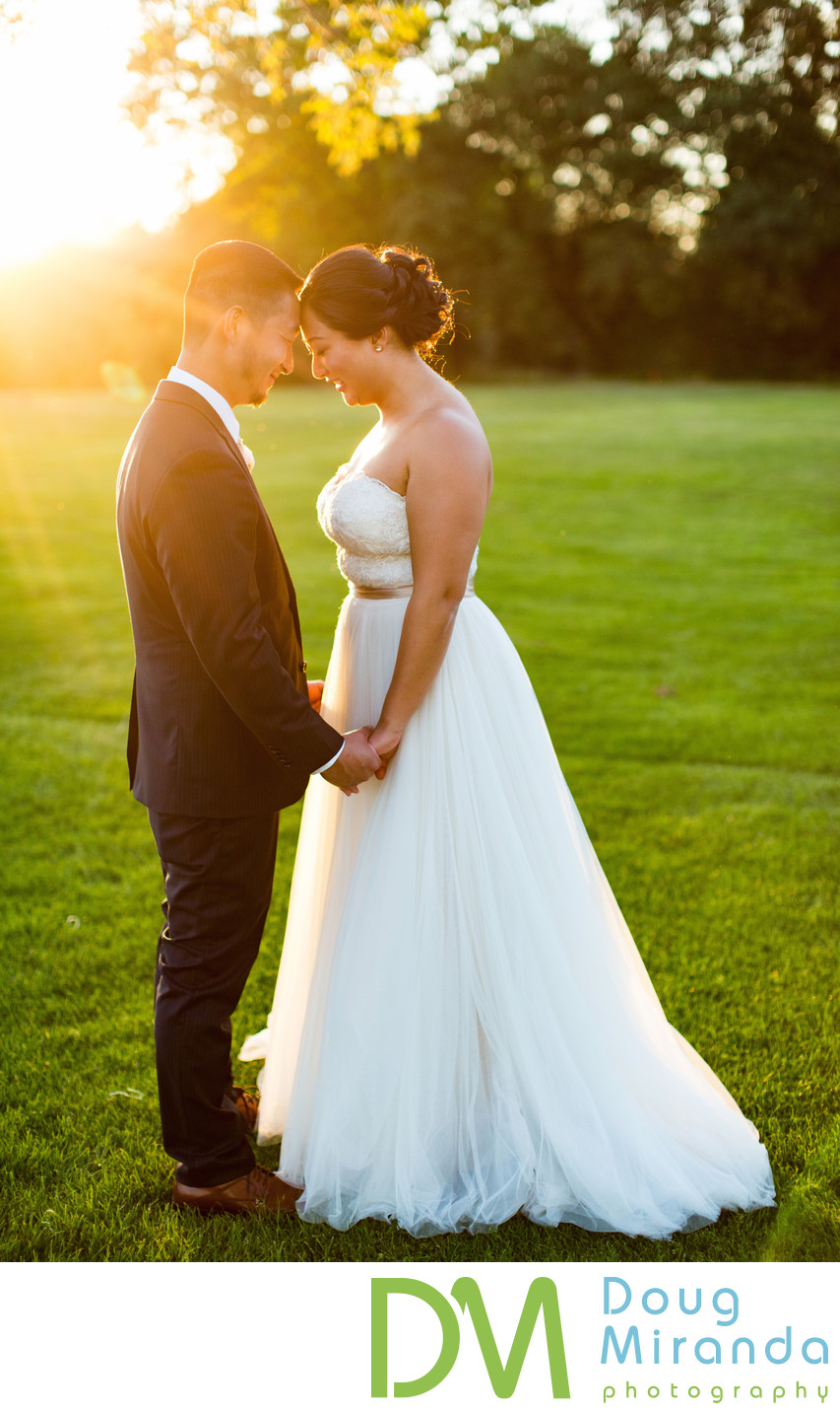 Haggin Oaks Golf Course Wedding Photography at Sunset