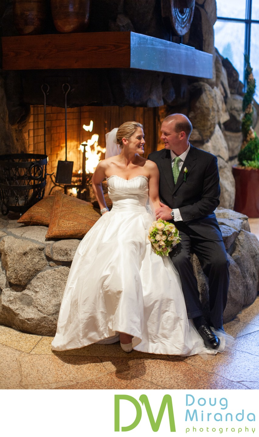 Resort at Squaw Creek Wedding Fireplace Photos
