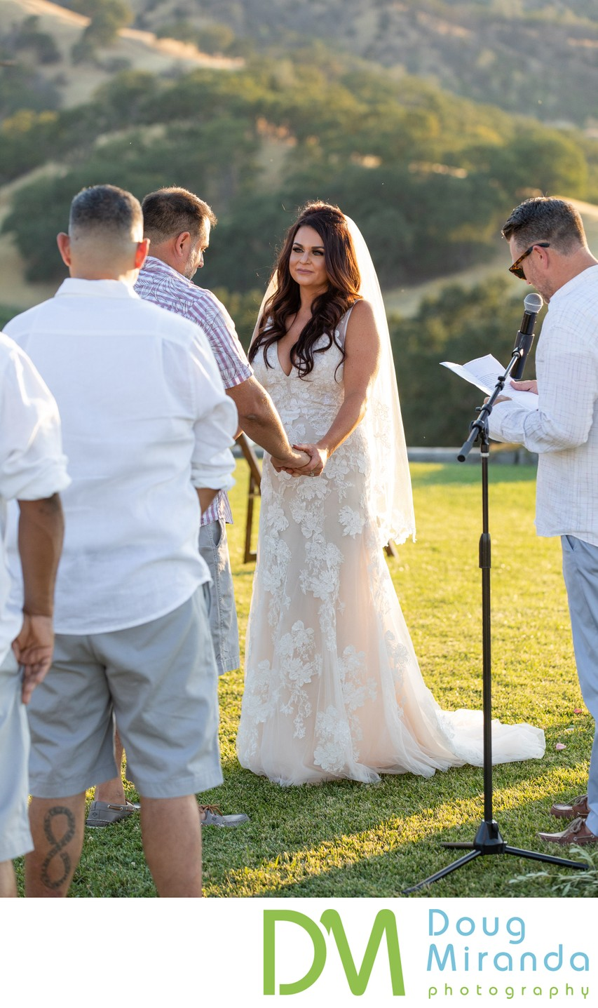Taber Ranch Wedding Ceremony Photograph