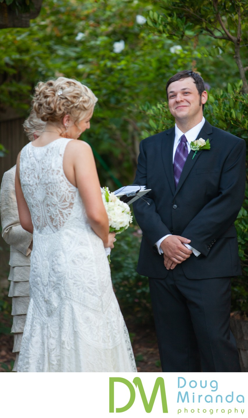 Wine and Roses Wedding Ceremony Picture