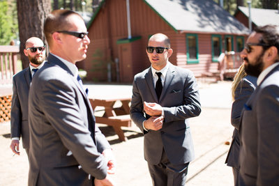 Groom Getting Ready at Zephyr Cove Resort Wedding