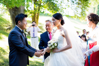 Grand Island Mansion Wedding Ceremony Pictures