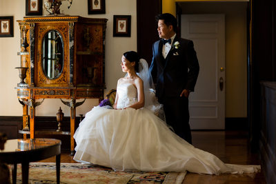 Bride and Groom Photos at Grand Island Mansion Wedding