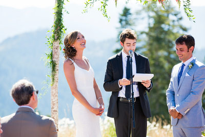 Zephyr Lodge Northstar wedding ceremony photos
