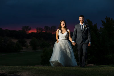 Auburn Valley Golf Club Wedding Sunset Photos