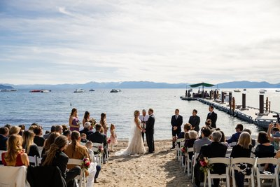 Hyatt Lake Tahoe Wedding Ceremony Photos