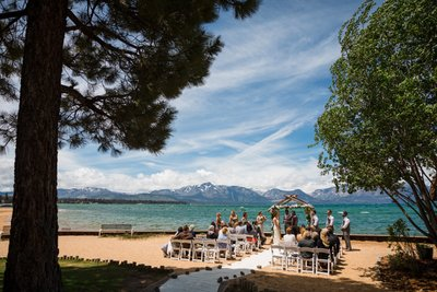 Lakeside Beach Tahoe Wedding Photography