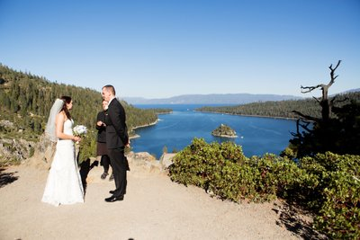 Emerald Bay Wedding Ceremony Photographer