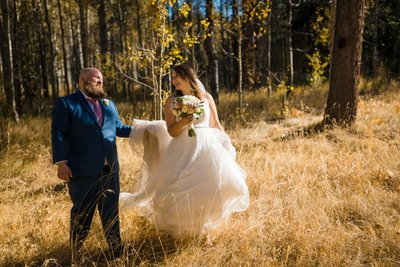 Lake Tahoe Fall Elopement Photograph