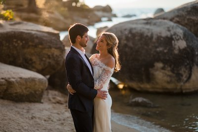 Sand Harbor Lake Tahoe Elopement Photographer