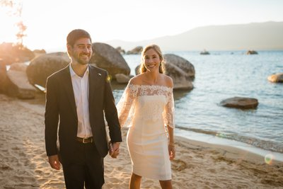Sand Harbor Lake Tahoe Elopement Photos
