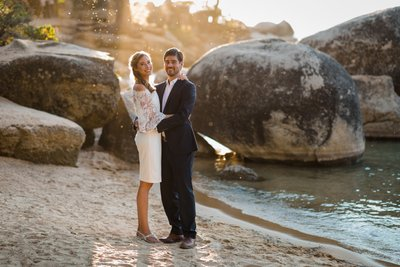 Sand Harbor Lake Tahoe Elopement