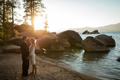 Sand Harbor Lake Tahoe Elopement Photographers