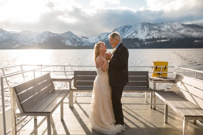 Tahoe Paradise Boat Wedding Photographer
