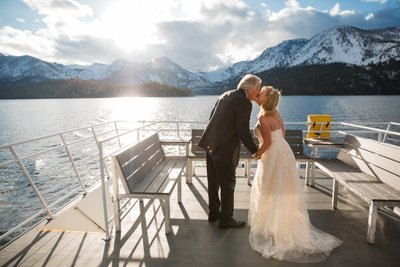 Tahoe Paradise Boat Wedding Photography