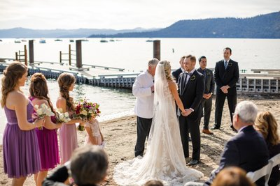 Hyatt Regency Lake Tahoe Wedding Ceremony Photos