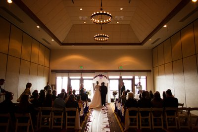 Hyatt Regency Lake Tahoe Winter Wedding Ceremony