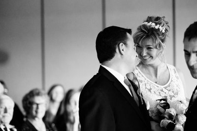 Hyatt Regency Lake Tahoe Winter Wedding Ceremony Photos