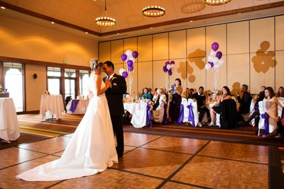 Hyatt Regency Lake Tahoe Winter Wedding Reception Photo