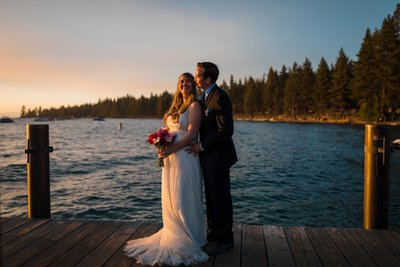 Elopement pictures Zephyr Cove Lake Tahoe