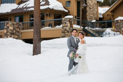 The Chateau at Incline Village Winter Wedding Photos