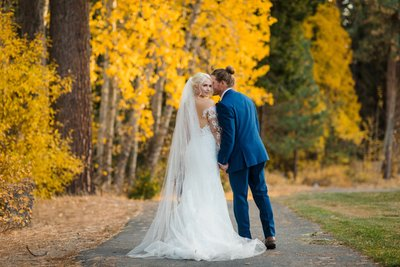 Chateau at Incline Village Fall Wedding Photography