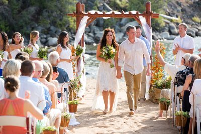 Round Hill Pines Beach Resort Wedding Ceremony