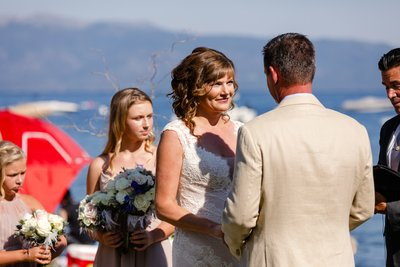 Gar Woods Grill and Pier Wedding Ceremony Photograph