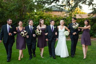 Wine and Roses Bridal Party Wedding Pictures