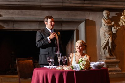 Wine and Roses Wedding Reception Photo
