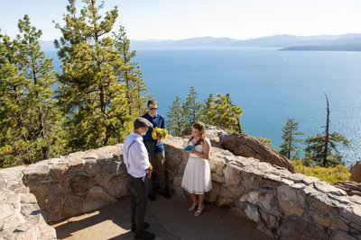 North Lake Tahoe Elopement Ceremony Photos