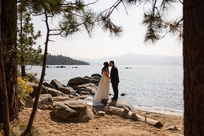 Zephyr Cove Lake Tahoe Elopement Photos