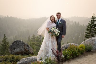 Tahoe Blue Estate Elopement Photo
