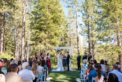 The Lodge at Tahoe Donner Wedding Ceremony