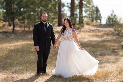 Zephyr Cove Lake Tahoe Fall Elopement Photos