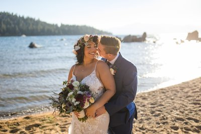 Zephyr Cove Elopement Lake Tahoe
