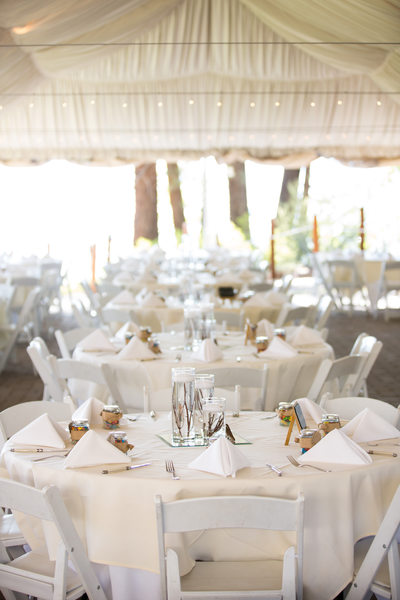 Wedding Reception Tent at Zephyr Cove Resort
