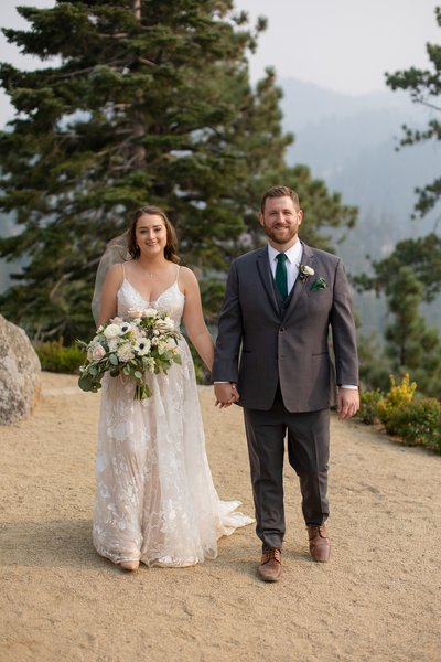 Tahoe Blue Estate Elopement Photograph