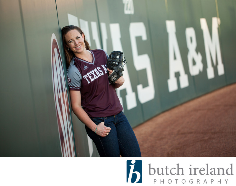 Texas A&M softball portrait