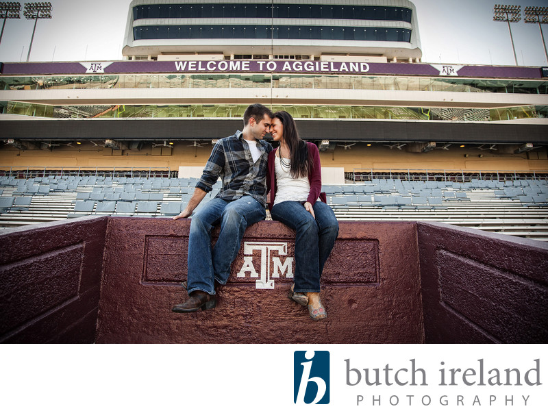Kyle Field Engagement Photographer