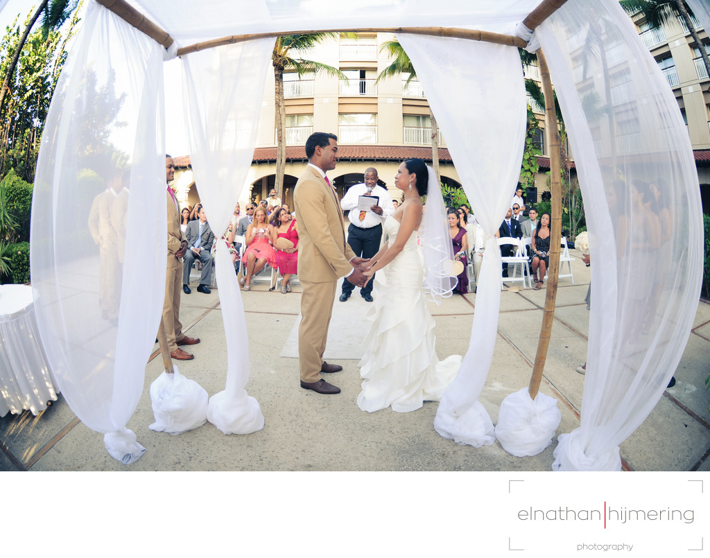Garden Wedding Setup 3 Aruba Wedding Photographer