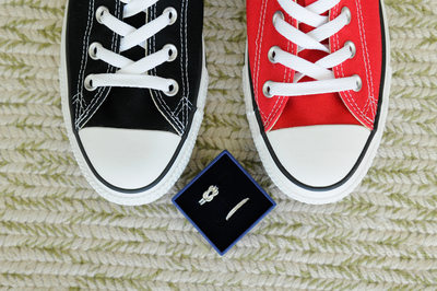 black and red converse shoes rings