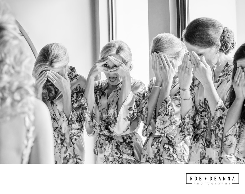 Memphis Wedding Photographer Bridal Party First Look