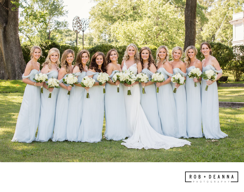 Memphis Wedding Photographer Bridesmaids in Blue