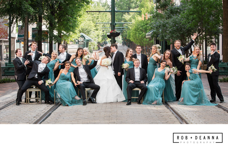 Memphis Wedding Photographer Bridal Party Main Street