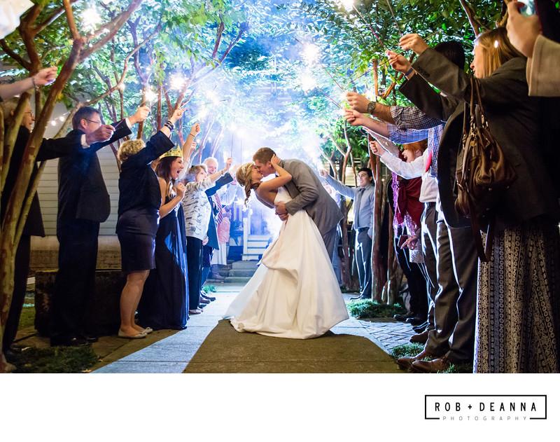 Wedding Photographers Memphis Sparkler Exit
